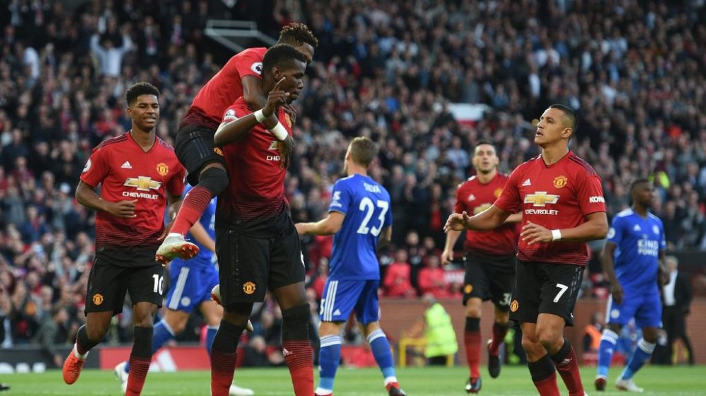 Manchester United Gets First Win Over Leicester City