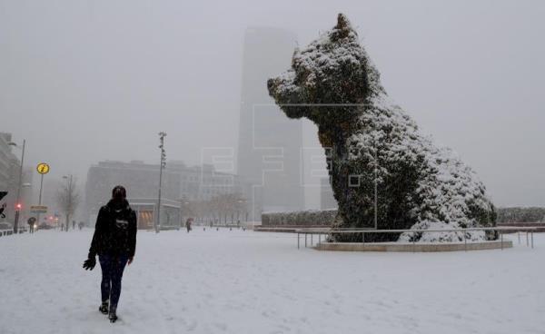 Winter storm blasts Europe, killing 12