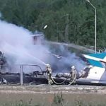 Two killed, seven injured as Russian plane makes emergency lending