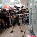 Hong Kong protesters take over legislative chamber on handover anniversary