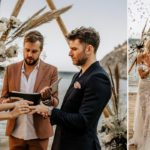 Comedian Joel Weds Long time Girlfriend Hannah in beach wedding