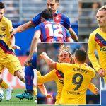 Griezmann, Messi & Suarez score as Barcelona go top of La Liga