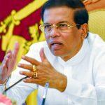 Sri Lanka President Sirisena Abandons Re-election Bid