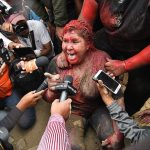 Angry Mob attacks Female Bolivian Mayor with paint, cuts hair Amid escalating violence - Video