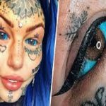 Shocking! Lady Goes Blind For 3 Weeks After Tattooing Her Eyeballs Blue