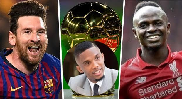 Footballer, Samuel Eto'o Blames Africans For Sadio Mane Losing The Ballon D'Or To Messi
