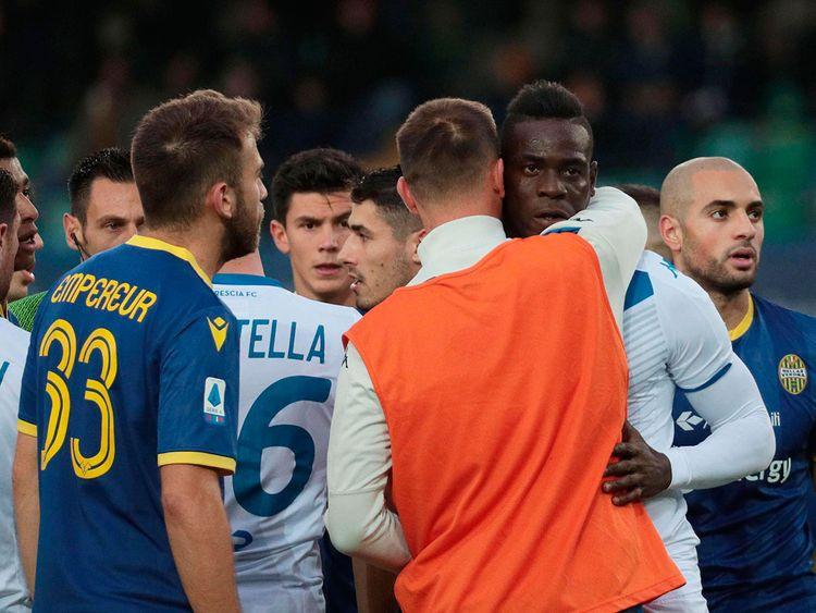 Lazio fined 20,000 euros over Mario Balotelli Racist Abuse of Brescia striker