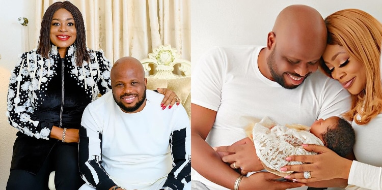 Singer, Sinach and Husband Dedicate Their Daughter After Giving Birth At 46