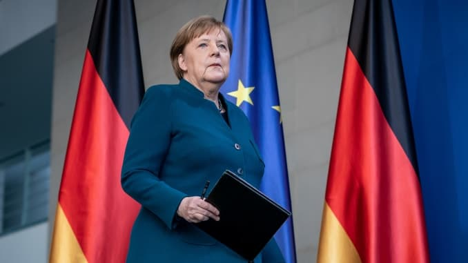 German Chancellor Angela Merkel in quarantine after contact with doctor who tested positive for coronavirus