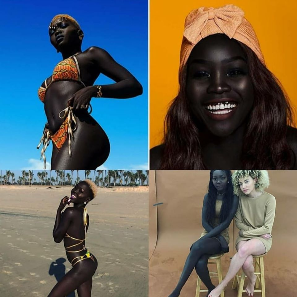 Sudanese Model Enters Guinness Book Of Records for Having the darkest skin tone on earth(Photos)