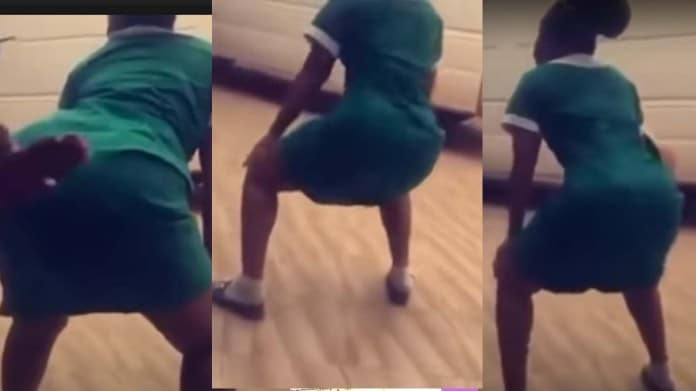 Ghanaian Nurse Declared Wanted After Twerking With Uniform (Video)