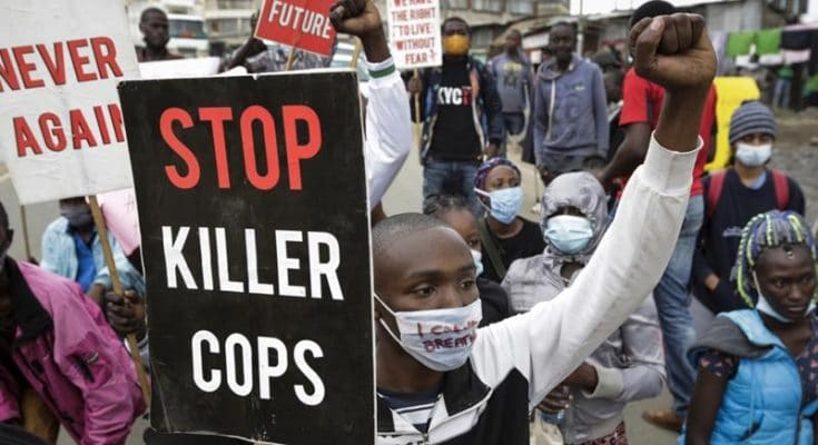 Angry residents set Kenya police camp on fire over 'harassment'