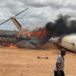 In Somalia - Cargo plane carrying aid crashes