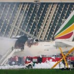 Ethiopian Airlines plane catches fire in China airport