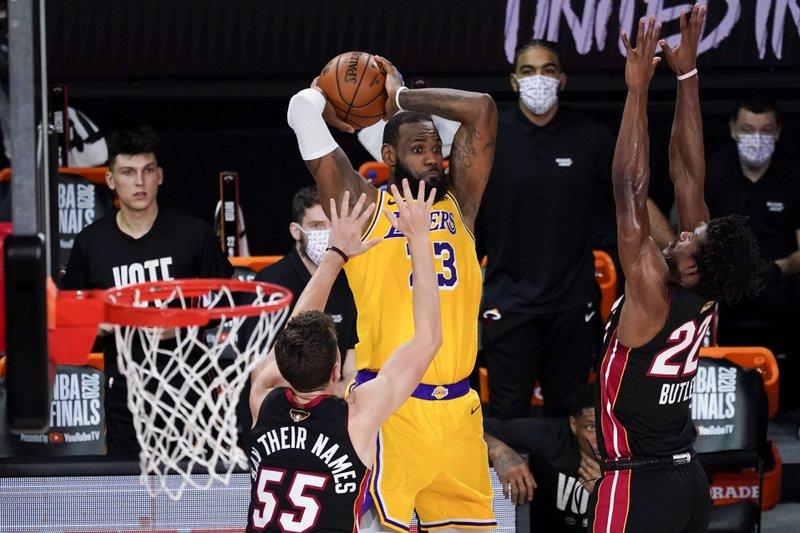 NBA Finals: LA Lakers beat Miami Heat 102-96,Take 3-1 lead