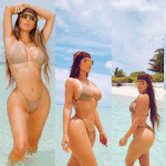 40 and Still Hot Reality Star Kim Kardashian Shares New Bikini Photos