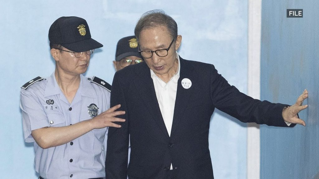 Court Gives 17-year sentence to ex South Korean president Lee over embezzlement and bribery
