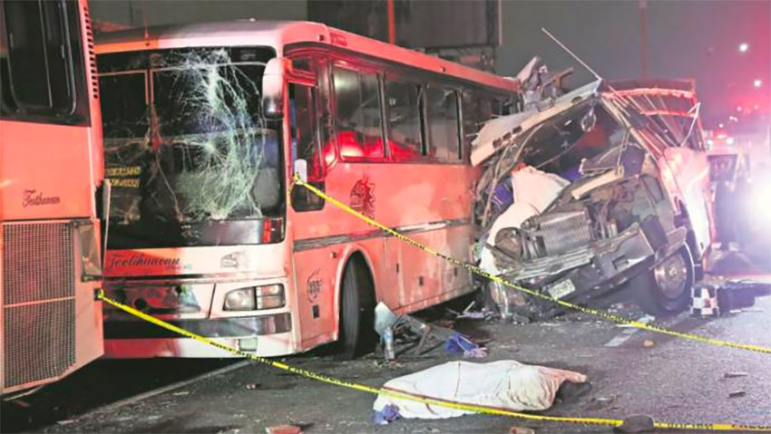 In Mexico: 13 killed in explosion after car collided with transporter