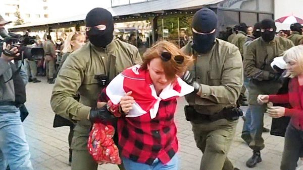 In Belarus: More than 100 detained as thousands of anti-Lukashenko protesters march