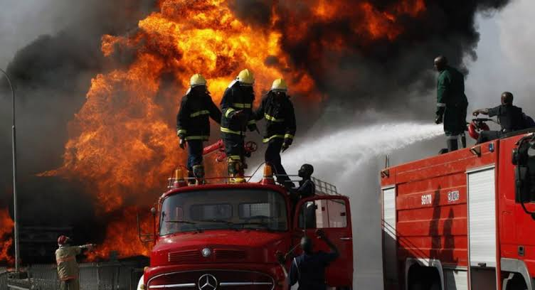 Nigeria Immigration Service Headquarters In Abuja Gut by Fire