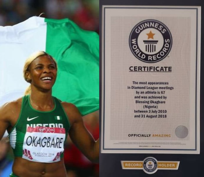 Guinness Book of World Records recognises Nigerian Okagbare