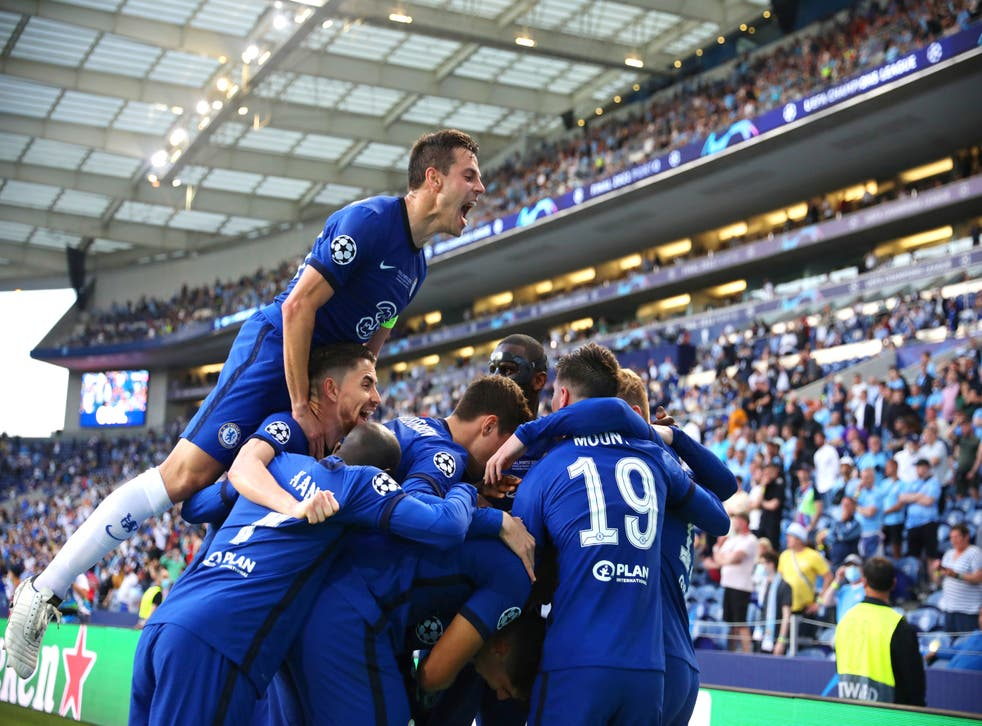 Fans Jubilates After Chelsea Wins 2021 Champions League Defeating Manchester City In Porto