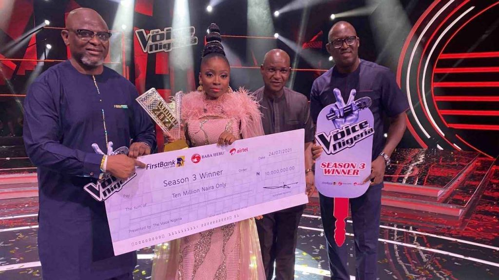 The Voice Nigeria' Season 3: Esther Becomes Latest Music Star Wins 6th Edition