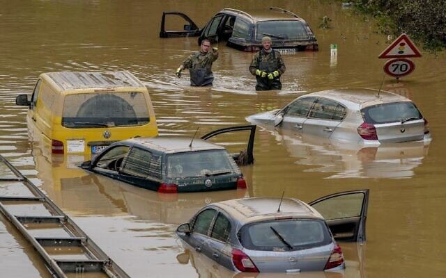 German flood deaths rise above 130 as president is set to visit